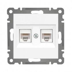 Internetdose 2x RJ45 Karea Alpinweiß