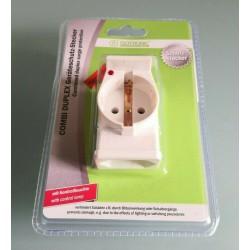 Überspannungsschutz Stecker Combi Duplex Geräteschutz Stecker Schutzstecker