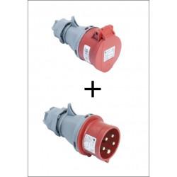 Set CEE Kupplung und Stecker 16A Stecker CEE 16A + Kupplung 16A CEE 16A rot TP