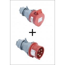 Set CEE 32A Kupplung und Stecker rot TP