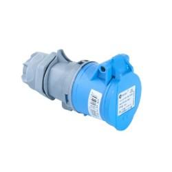 CEE Kupplung blau 16A Spritzwassergeschützt für Wohnmobil und Caravan