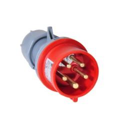 TP CEE Stecker mit Phasenwender 16A IP44 5 Polig Starkstrom Stecker 16A rot CEE-Stecker