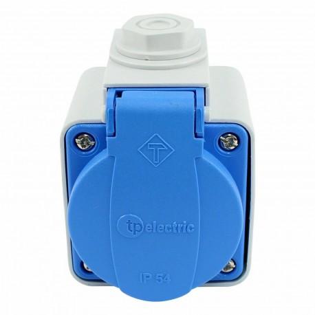 Schuko Anbausteckdose Einbausteckdose inklusive AP Gehäuse IP54 in 3 Farben