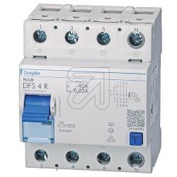 Doepke Fehlerstromschutzschalter 40A 0,03A,FI Schutzschalter DFS4 N-Klemme rechts
