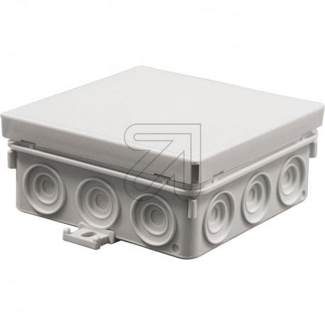 Kabel Abzweigdose Abzweigkasten Aufputz 100x100x42mm Kabeldose AP Grau
