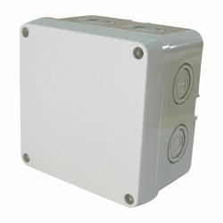 Kabel Abzweigdose Abzweigkasten Aufputz 110x110x70mm Kabeldose AP Grau