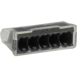 Schraublose Dosenklemme SDK Steckklemme 5x2,5mm² transparent 100 Stück