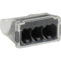 Schraublose Dosenklemme SDK Steckklemme 3x2,5mm² transparent 100 Stück