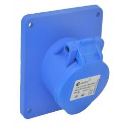 16A CEE Blau Einbausteckdose schräg Flanschsteckdose IP44 für Wohnmobile und Camping