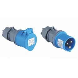 Set 32A CEE Stecker + Kupplung blau