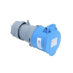 CEE 32A Kupplung blau Spritzwassergeschützt