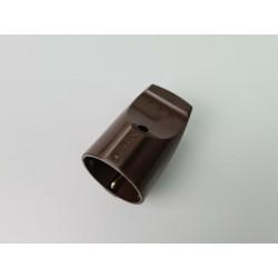 Schuko Kupplung PVC braun