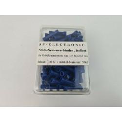 Stroß- Serienverbinder blau PVC Isoliert 100 Stück im praktischem Box Lötfreie Leitungsverbinder
