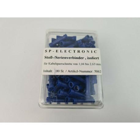 Stroß- Serienverbinder blau