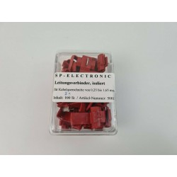 Leitungsverbinder rot PVC Isoliert