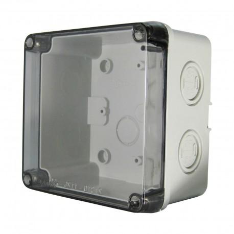 Abzweigkasten Aufputz mit Sicht Deckel 110x110x70mm AP Grau