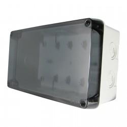 Abzweigkasten Aufputz mit Sicht Deckel 220x130x95mm AP Grau