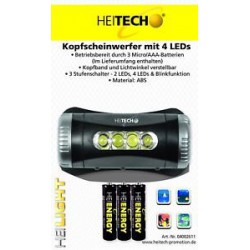 Kopfscheinwerfer mit 4 LED's Stirnlampe mit LED Kopflampe Arbeitslampe mit Leds
