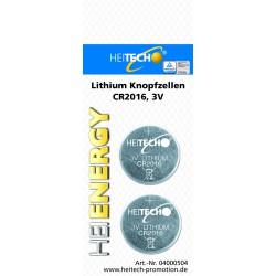Knopfzellen 2 x CR2016 , Lithium Knopfzellen für Uhren, Fernbedienungen etc.