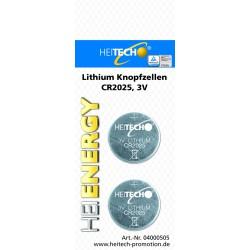 Knopfzellen 2 x CR2025 , Lithium Knopfzellen für Uhren, Fernbedienungen etc.