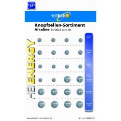 Knopfzellen Sortiment Alkaline 24 Stück, LR621 / LR41 / LR626 / LR1130 / LR44