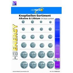 Knopfzellen Sortiment Alkaline & Lithium, LR621,LR41,LR44,CR2016.CR2025,CR2032 !