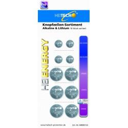 Knopfzellen Sortiment Alkaline & Lithium,4 x AG13/LR44.2 x CR2025, 4 x CR2032  !